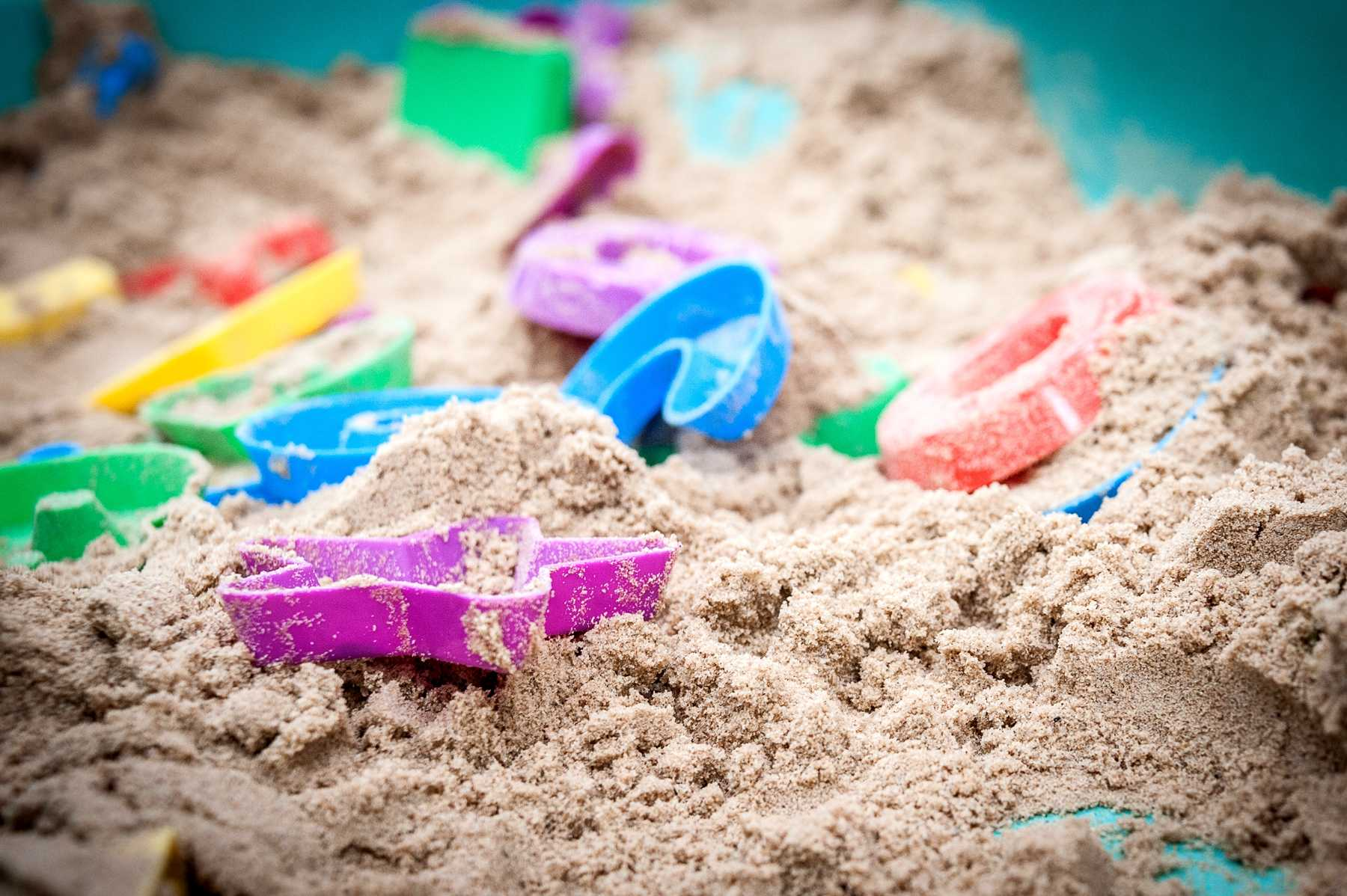 Sand pit at the Pingu Early Learners