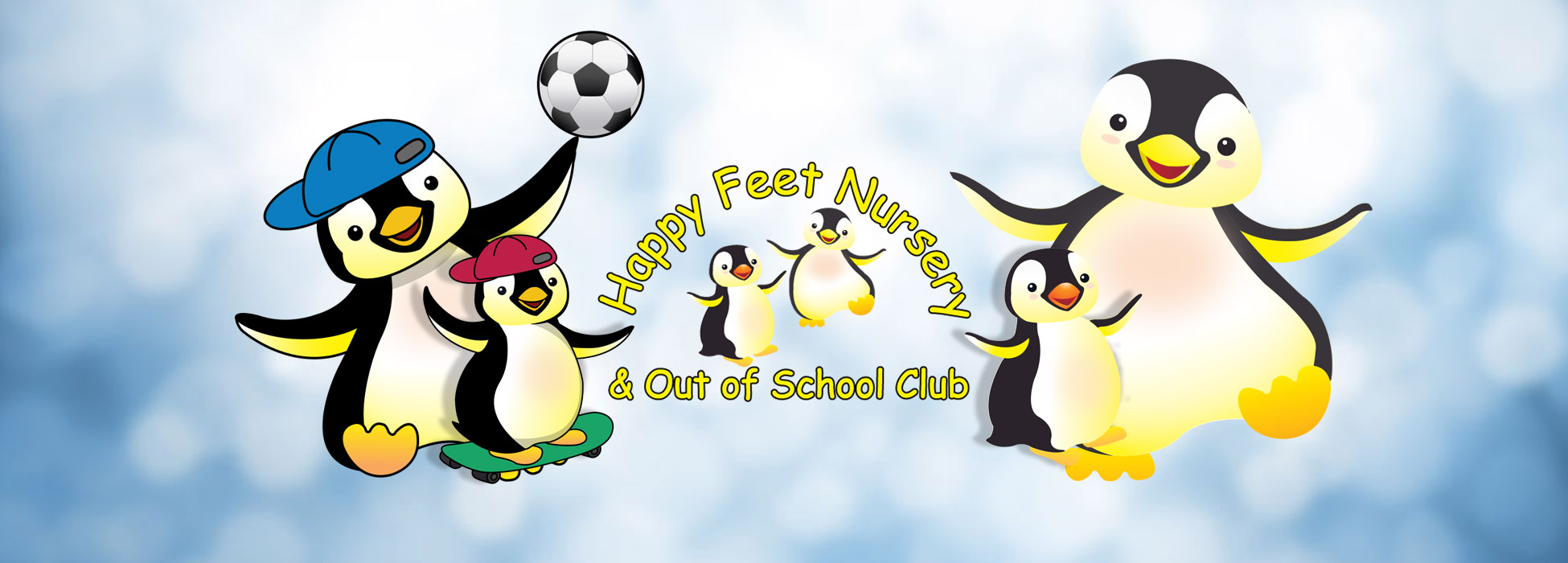 Happy Feet Nursery School and Out of School Club Logo for the blog page